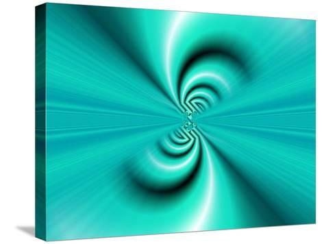 Abstract Fractal Pattern in Turquoise-Albert Klein-Stretched Canvas Print