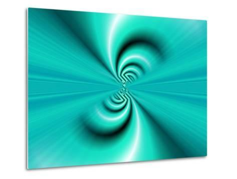 Abstract Fractal Pattern in Turquoise-Albert Klein-Metal Print