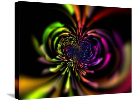 Abstract Multi-Coloured Design with Perspective-Albert Klein-Stretched Canvas Print