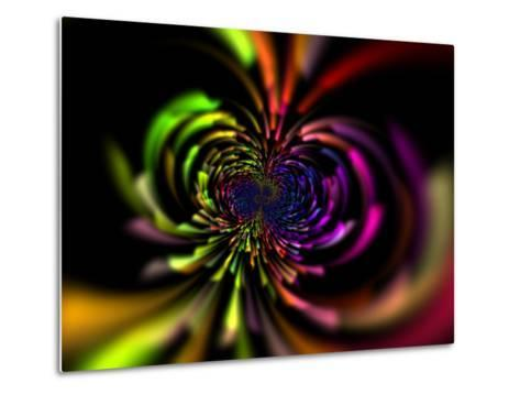 Abstract Multi-Coloured Design with Perspective-Albert Klein-Metal Print