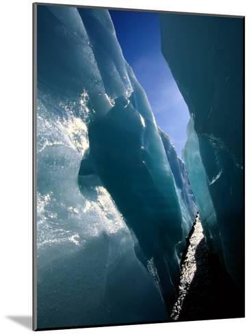 Wolf Creek Flows Through Perennial Ice Sheets Known as Aufeis-Raymond Gehman-Mounted Photographic Print