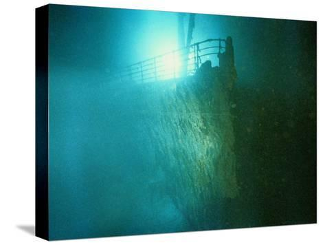 Bow Railing of R.M.S. Titanic-Emory Kristof-Stretched Canvas Print