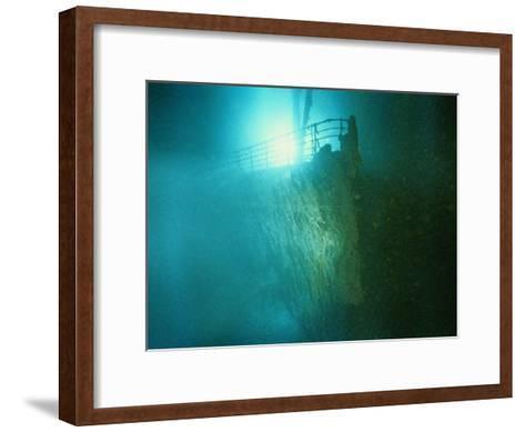 Bow Railing of R.M.S. Titanic-Emory Kristof-Framed Art Print