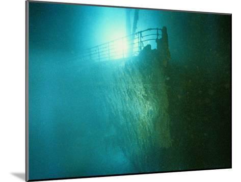 Bow Railing of R.M.S. Titanic-Emory Kristof-Mounted Photographic Print