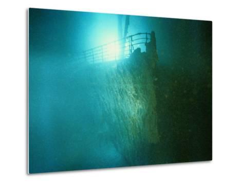 Bow Railing of R.M.S. Titanic-Emory Kristof-Metal Print