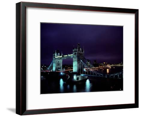 Night View of Tower Bridge, Which Spans the Thames River-Richard Nowitz-Framed Art Print