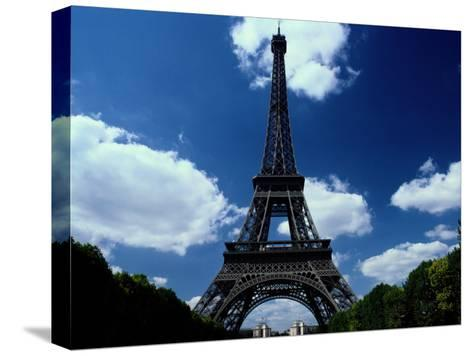 A Scenic View of the Eiffel Tower-Todd Gipstein-Stretched Canvas Print