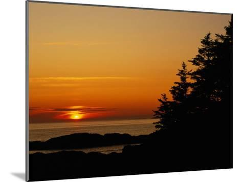 Sunset over a Northern Lake-Raymond Gehman-Mounted Photographic Print