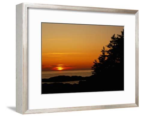 Sunset over a Northern Lake-Raymond Gehman-Framed Art Print