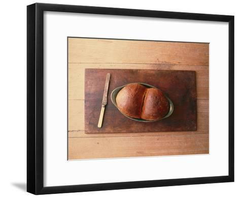 Bread Laid out on a Simple Table Setting-Sam Abell-Framed Art Print