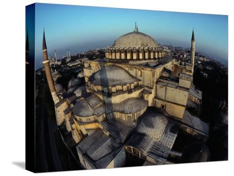 Side Domes and Added Minarets Gather About the Great Vault of Hagia Sophia-James L^ Stanfield-Stretched Canvas Print