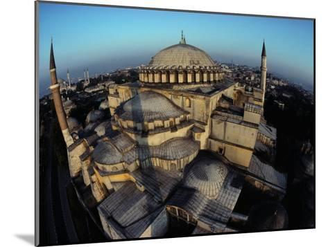 Side Domes and Added Minarets Gather About the Great Vault of Hagia Sophia-James L^ Stanfield-Mounted Photographic Print
