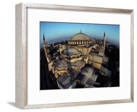 Side Domes and Added Minarets Gather About the Great Vault of Hagia Sophia-James L^ Stanfield-Framed Art Print