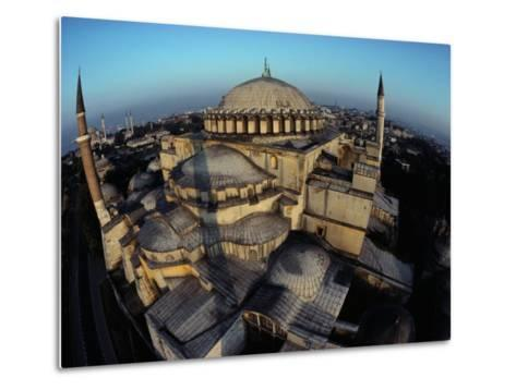 Side Domes and Added Minarets Gather About the Great Vault of Hagia Sophia-James L^ Stanfield-Metal Print