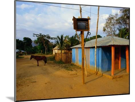 The Community Television Set in the Small Village of La Victoire-James P^ Blair-Mounted Photographic Print