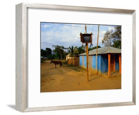 The Community Television Set in the Small Village of La Victoire-James P^ Blair-Framed Art Print