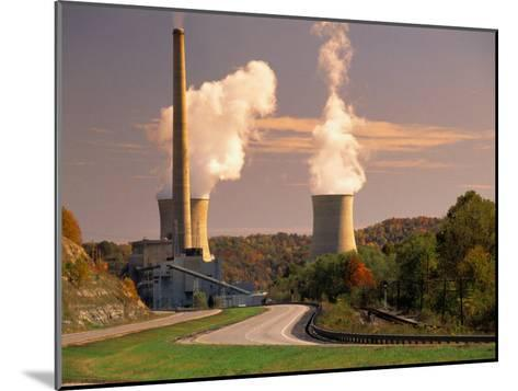 Road and Nuclear Power Plant-Peter Krogh-Mounted Photographic Print