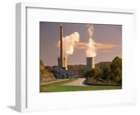 Road and Nuclear Power Plant-Peter Krogh-Framed Art Print