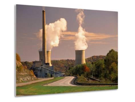 Road and Nuclear Power Plant-Peter Krogh-Metal Print