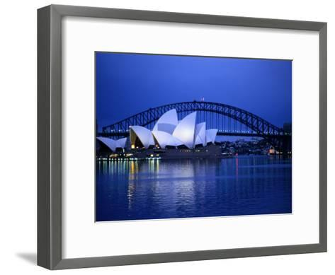 Harbor and Sydney Opera House-Sam Abell-Framed Art Print