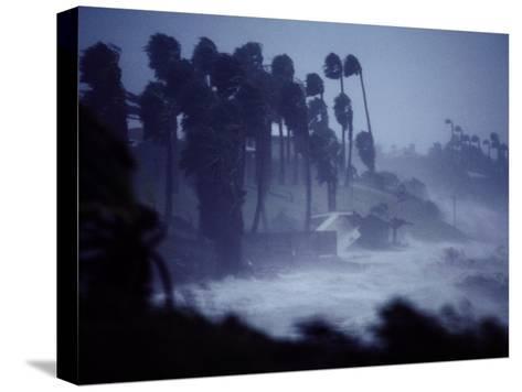 A Hurricane Lashes the Coast Near Corpus Christi-Annie Griffiths Belt-Stretched Canvas Print