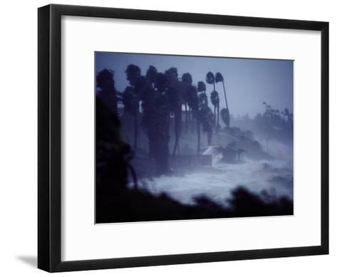A Hurricane Lashes the Coast Near Corpus Christi-Annie Griffiths Belt-Framed Art Print