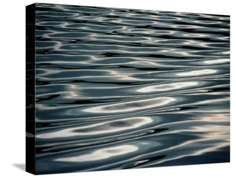 Sunlight Reflecting on Rippling Water-Todd Gipstein-Stretched Canvas Print