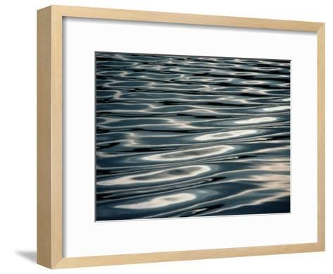 Sunlight Reflecting on Rippling Water-Todd Gipstein-Framed Art Print