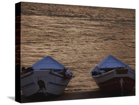 Two Wooden Dories on the Shore of the Colorado River-Dugald Bremner-Stretched Canvas Print