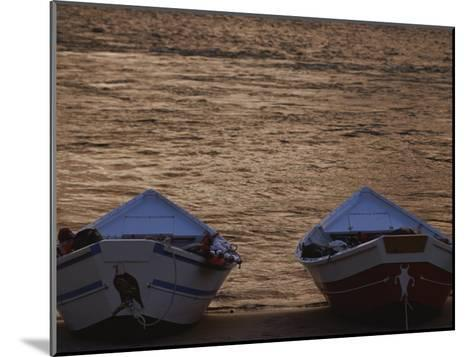 Two Wooden Dories on the Shore of the Colorado River-Dugald Bremner-Mounted Photographic Print
