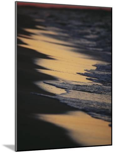 Surf Gently Lapping on a Sandy Beach at Twilight-Raymond Gehman-Mounted Photographic Print
