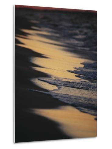 Surf Gently Lapping on a Sandy Beach at Twilight-Raymond Gehman-Metal Print