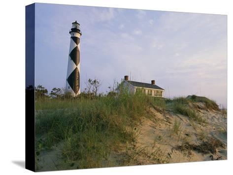 View of Cape Lookout Lighthouse-Stephen Alvarez-Stretched Canvas Print