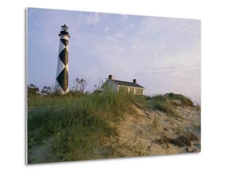 View of Cape Lookout Lighthouse-Stephen Alvarez-Metal Print