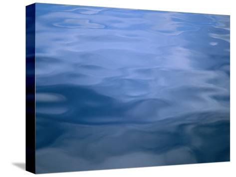 Gently Rippled Blue Water-Heather Perry-Stretched Canvas Print