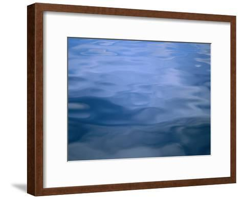 Gently Rippled Blue Water-Heather Perry-Framed Art Print