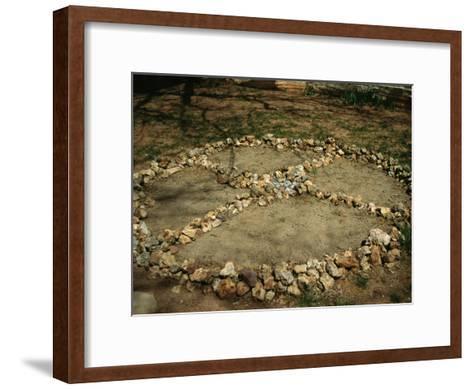 Medicine Wheel, Sedona, Arizona-David Edwards-Framed Art Print
