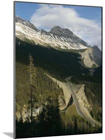 Mountain Peaks Along the Icefields Parkway-Michael S^ Lewis-Mounted Photographic Print