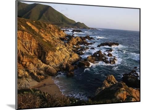 Crashing Surf on the Rocky Coast of California-Sisse Brimberg-Mounted Photographic Print