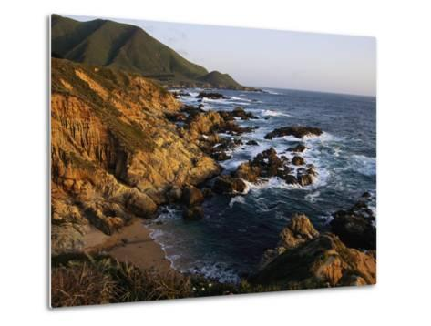 Crashing Surf on the Rocky Coast of California-Sisse Brimberg-Metal Print