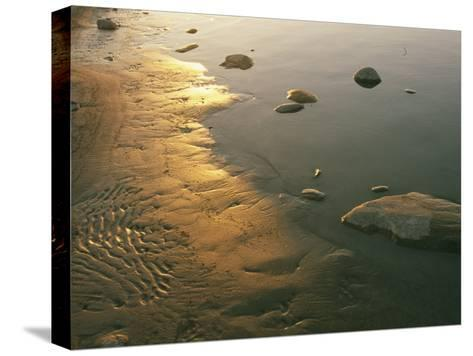 Sunset on the Rocky Shore of the Mackenzie River-Raymond Gehman-Stretched Canvas Print