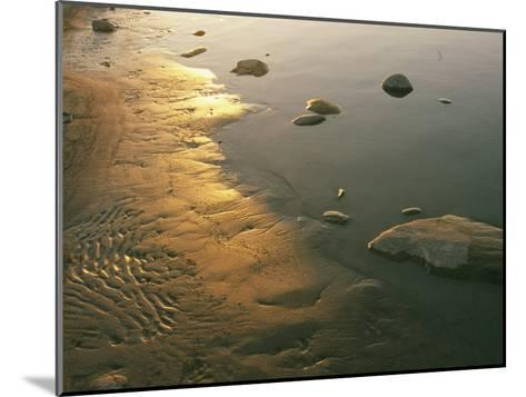 Sunset on the Rocky Shore of the Mackenzie River-Raymond Gehman-Mounted Photographic Print