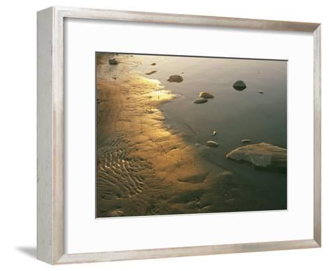 Sunset on the Rocky Shore of the Mackenzie River-Raymond Gehman-Framed Art Print