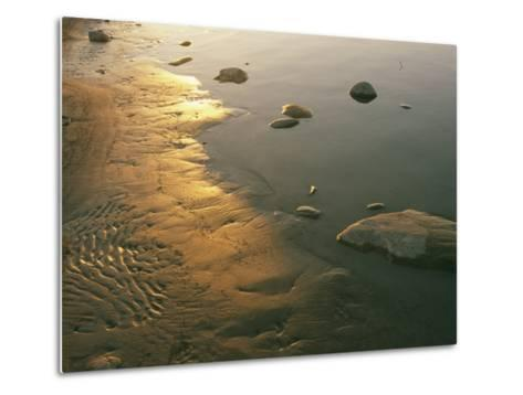 Sunset on the Rocky Shore of the Mackenzie River-Raymond Gehman-Metal Print