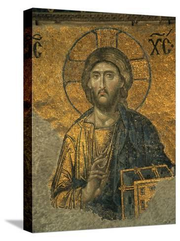 A Mosaic of Jesus at St. Sophia Hagia in Istanbul-Tim Laman-Stretched Canvas Print