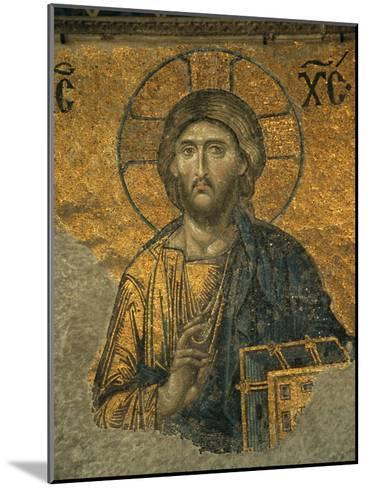 A Mosaic of Jesus at St. Sophia Hagia in Istanbul-Tim Laman-Mounted Photographic Print