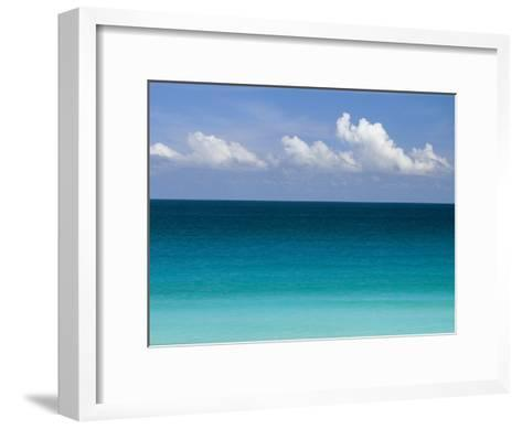 Clear Blue Water and White Puffy Clouds Along the Beach at Cancun-Michael Melford-Framed Art Print