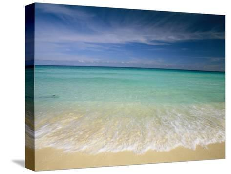 Clear Blue Water and Wispy Clouds Along the Beach at Cancun-Michael Melford-Stretched Canvas Print