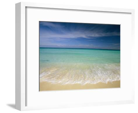 Clear Blue Water and Wispy Clouds Along the Beach at Cancun-Michael Melford-Framed Art Print