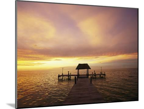 Sunset over the Gulf of Mexico Near Isla Holbox-Michael Melford-Mounted Photographic Print